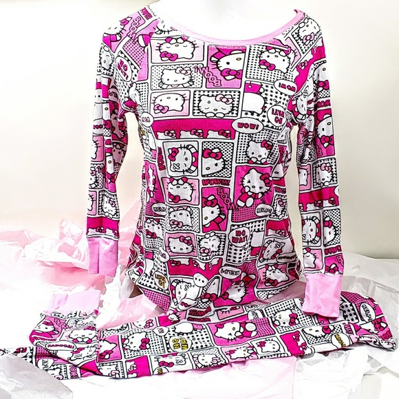 3014303a2 Hello Kitty Intimates & Sleepwear | Womens Capris Thermal Pajama ...